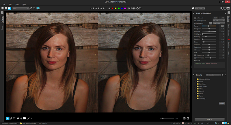 Before/After image of White Balance