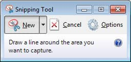Using windows snipping tool