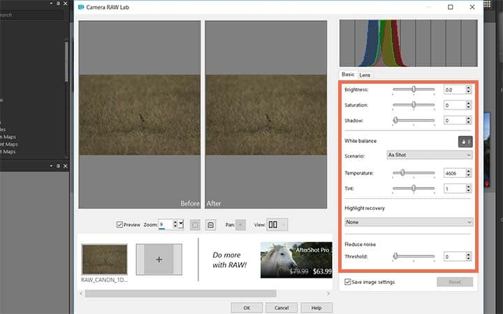 How To Use Camera Raw in PaintShop Pro