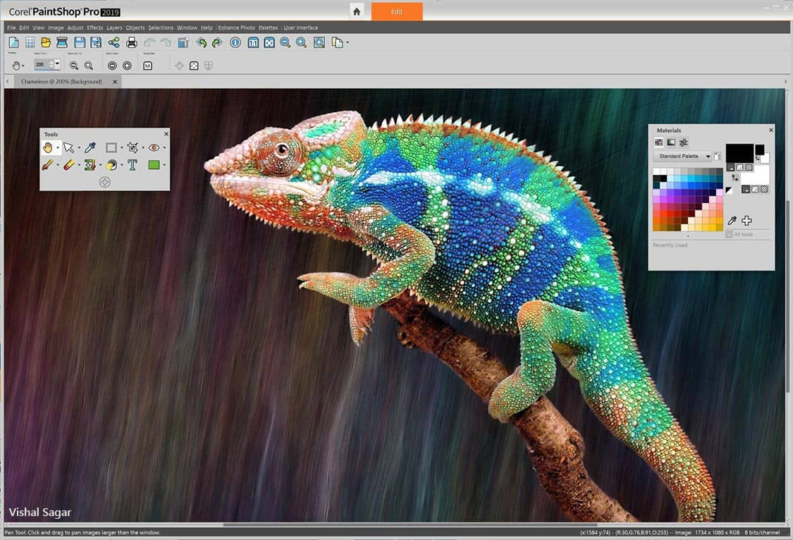 Photo Editing Software Paintshop Pro 2019
