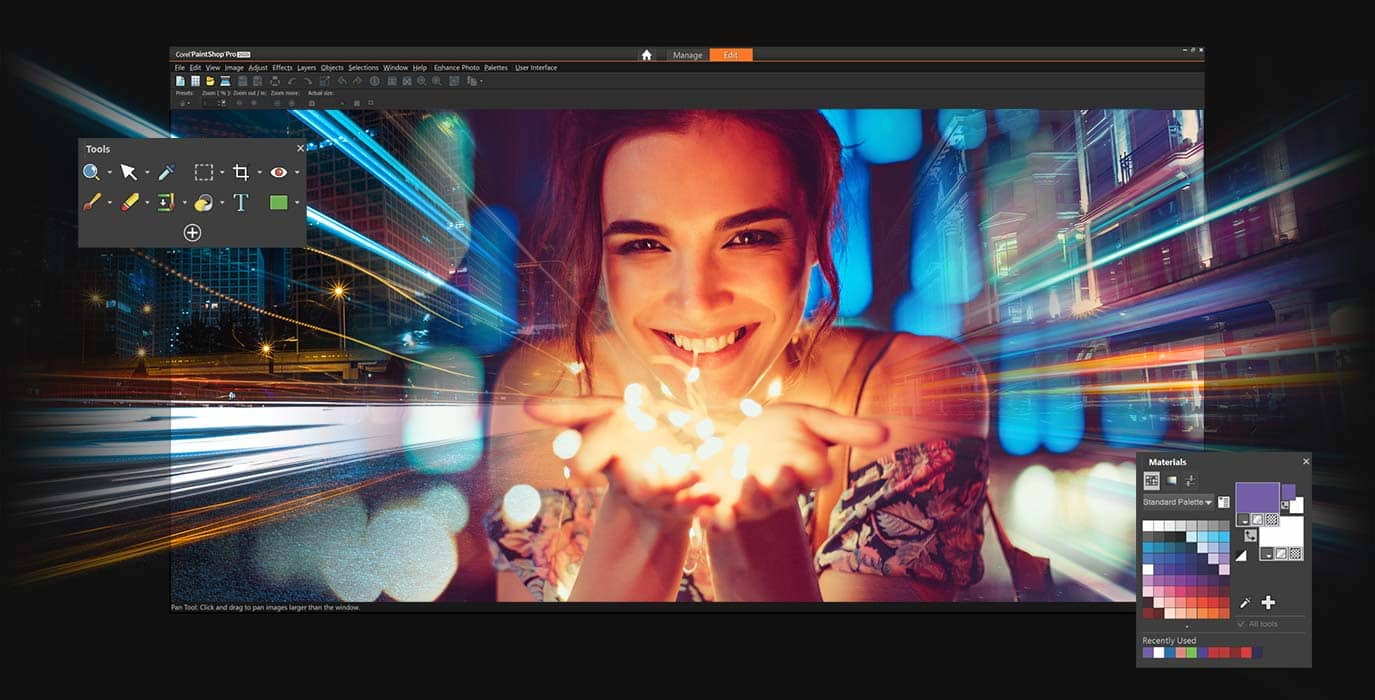 Photo editing software – PaintShop Pro 2020