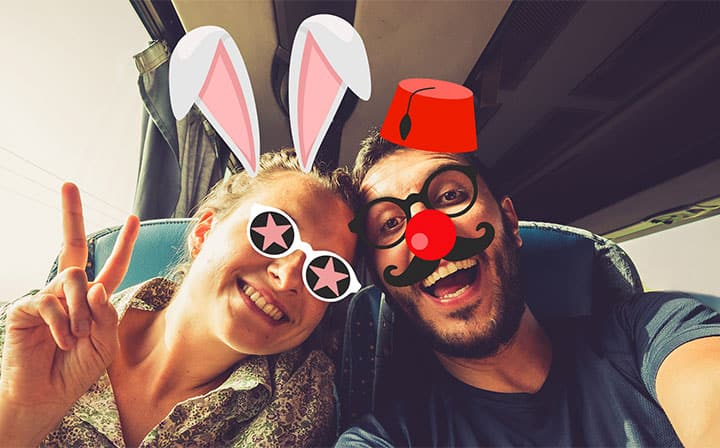 Face tracking AR Stickers